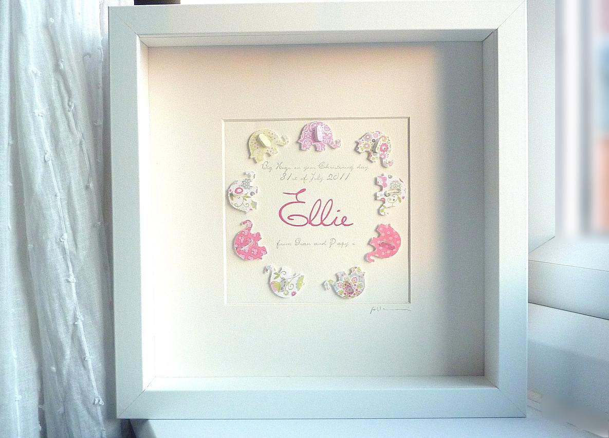 personalized baby girl gift keepsake box frame